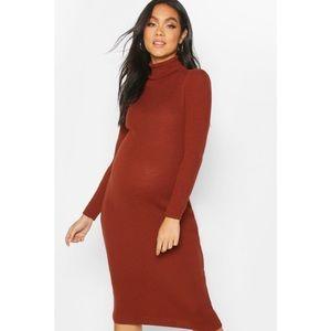 Boohoo Maternity High Neck Sweater Dress